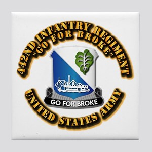 Army - DUI - 442nd Infantry Regt Tile Coaster