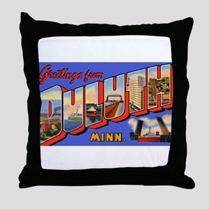 Duluth Minnesota Greetings Throw Pillow