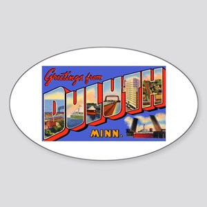 Duluth Minnesota Greetings Oval Sticker