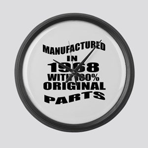 Manufactured In 1968 Large Wall Clock