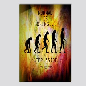 Funny Normal Is Boring Postcards (Package of 8)