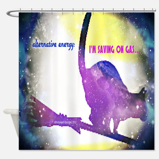 Alternative Energy Cat Shower Curtain