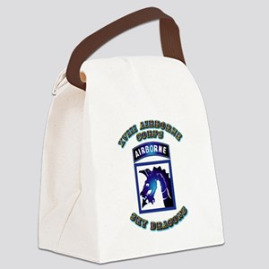 XVIII Airborne Corps - SSI Canvas Lunch Bag