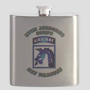 XVIII Airborne Corps - SSI Flask
