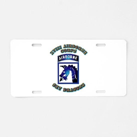 XVIII Airborne Corps - SSI Aluminum License Plate