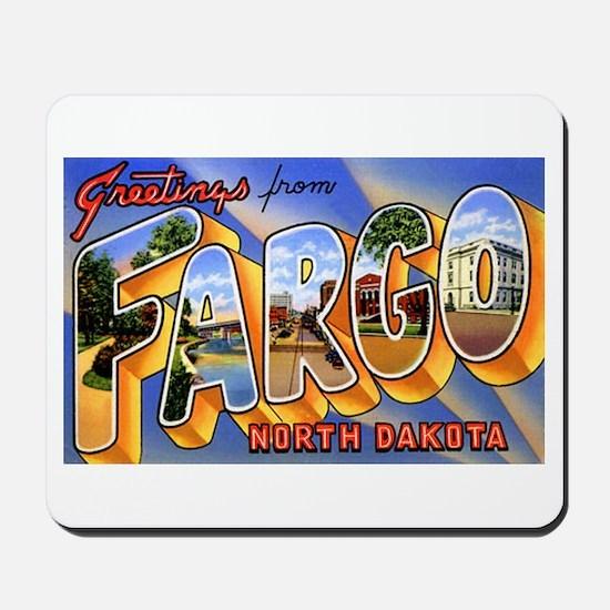Fargo North Dakota Greetings Mousepad