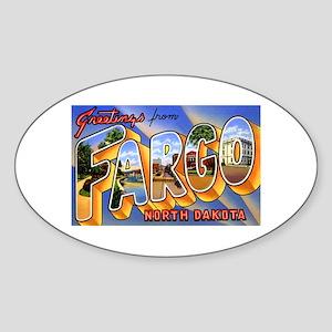 Fargo North Dakota Greetings Oval Sticker