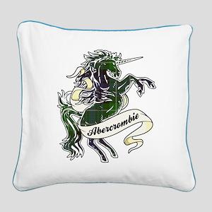 Abercrombie Unicorn Square Canvas Pillow