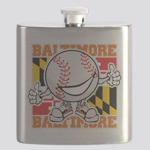 Baseball Dude Baltimore Flask