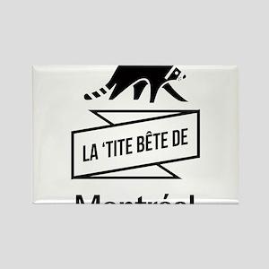 La 'tite Bête de Montréal Rectangle Magnet