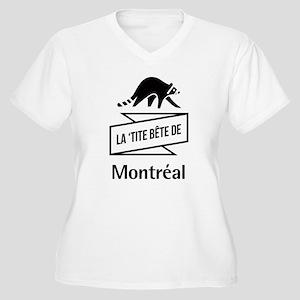 La 'tite Bête de Montréal Women's Plus Size V-Neck