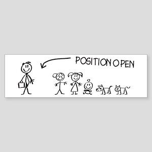 Stick Figure Family Woman Position Open Sticker (B