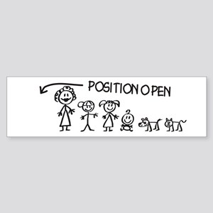 Stick Figure Family Man Position Open Sticker (Bum