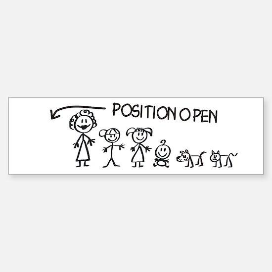 Stick Figure Family Man Position Open Bumper Bumper Sticker