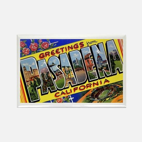 Pasadena California Greetings Rectangle Magnet