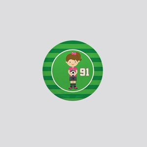 Soccer Sports Number 91 Mini Button