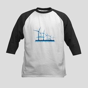 Offshore Wind Farm Kids Baseball Jersey