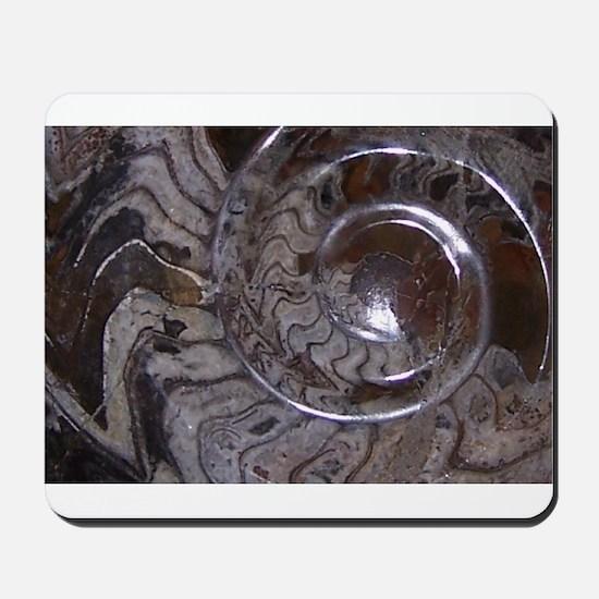 Ammonite Fossil Design Mousepad