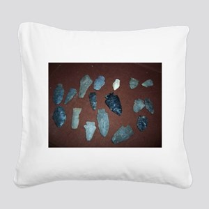 Collection of Indian Arrowheads Square Canvas Pill