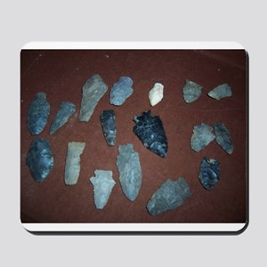 Collection of Indian Arrowheads Mousepad