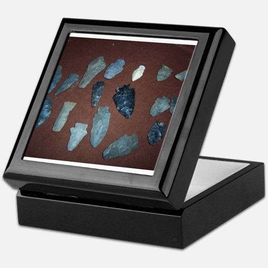 Collection of Indian Arrowheads Keepsake Box