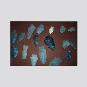Collection of Indian Arrowheads Rectangle Magnet