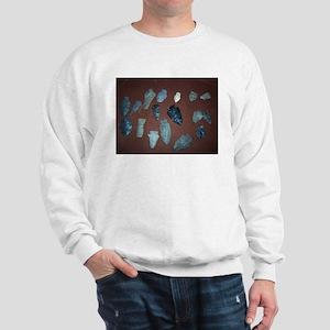 Collection of Indian Arrowheads Sweatshirt