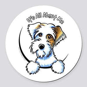 Sealyham Badg IAAM Off-Leash Art™ Round Car Magnet