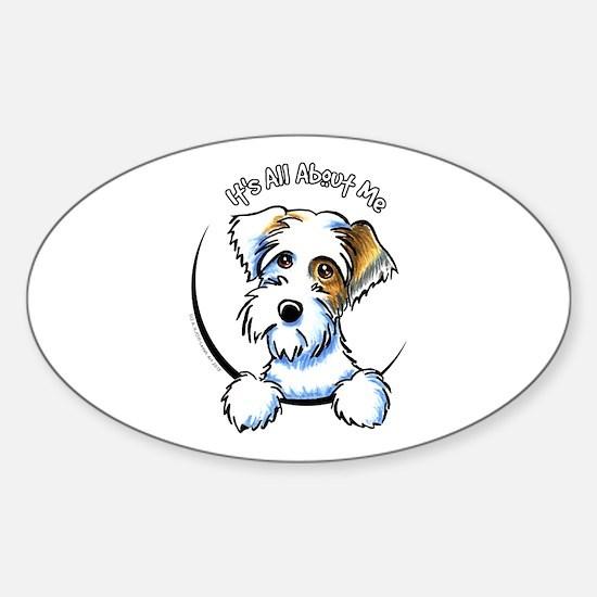 Sealyham Badg IAAM Off-Leash Art™ Sticker (Oval)