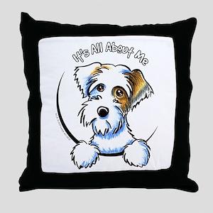 Sealyham Badg IAAM Off-Leash Art™ Throw Pillow