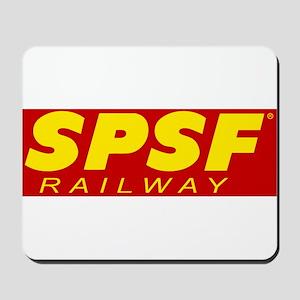 SPSF Railway Modern Herald Yellow on Red Mousepad