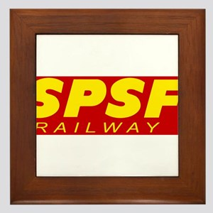 SPSF Railway Modern Herald Yellow on Red Framed Ti