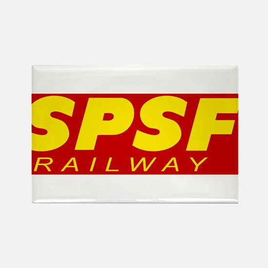SPSF Railway Modern Herald Yellow on Red Rectangle