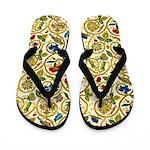 Elizabethan Swirl Embroidery Flip Flops