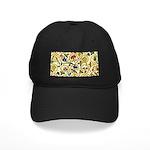 Elizabethan Swirl Embroidery Black Cap