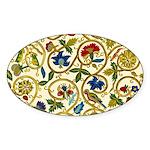 Elizabethan Swirl Embroidery Sticker (Oval 50 pk)