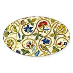 Elizabethan Swirl Embroidery Sticker (Oval 10 pk)