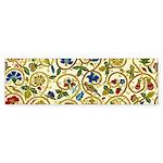 Elizabethan Swirl Embroidery Sticker (Bumper)