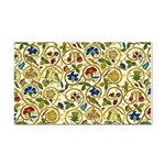 Elizabethan Swirl Embroidery Rectangle Car Magnet