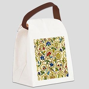 Elizabethan Swirl Embroidery Canvas Lunch Bag