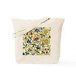 Elizabethan Swirl Embroidery Tote Bag