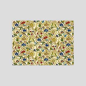 Elizabethan Swirl Embroidery 5'x7'Area Rug