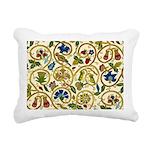 Elizabethan Swirl Embroi Rectangular Canvas Pillow