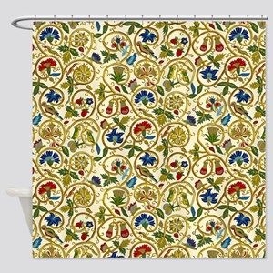 Elizabethan Swirl Embroidery Shower Curtain
