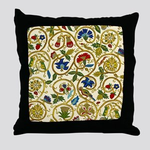 Elizabethan Swirl Embroidery Throw Pillow