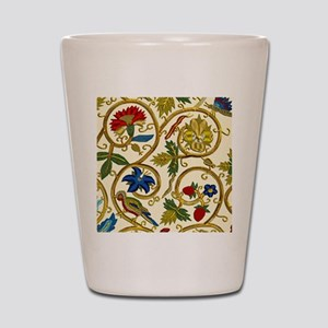 Elizabethan Swirl Embroidery Shot Glass