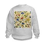 Elizabethan Swirl Embroidery Kids Sweatshirt