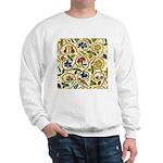 Elizabethan Swirl Embroidery Sweatshirt