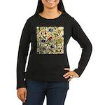 Elizabethan Swirl Women's Long Sleeve Dark T-Shirt