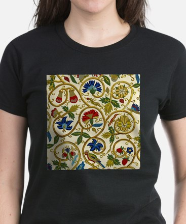Elizabethan Swirl Embroidery Women's Dark T-Shirt